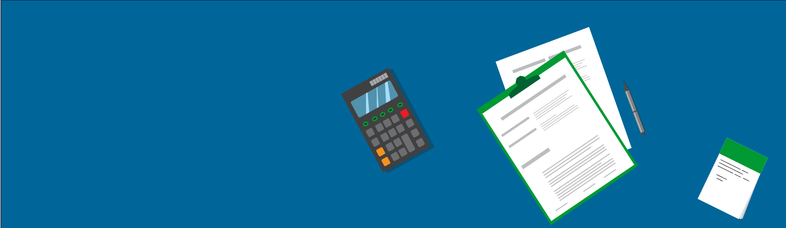 Calculator and forms illustration