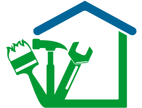 house and construction tools illustration