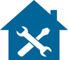 blue home improvement icon